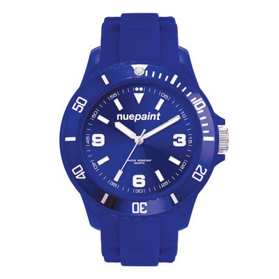Watch, Unisex with Silicone Strap