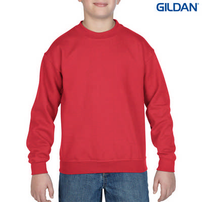 18000B Youth HB Crew - Red