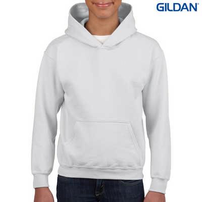 18500B Youth HB Hoody - White