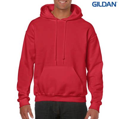 18500 Adult HB Hoody - Red