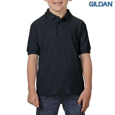 72800B DryBlend Youth Dbl Pique Polo - Black