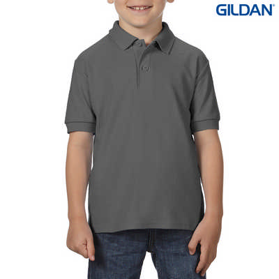 72800B DryBlend Youth Dbl Pique Polo - Charcoal