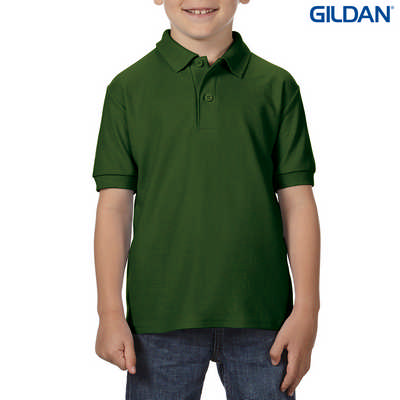 72800B DryBlend Youth Dbl Pique Polo - Forest