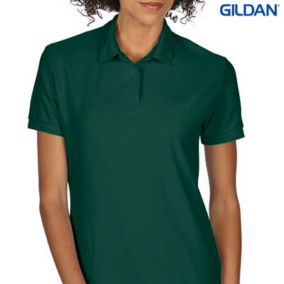 72800L DryBlend Ladies Dbl Pique Polo - Forest Green