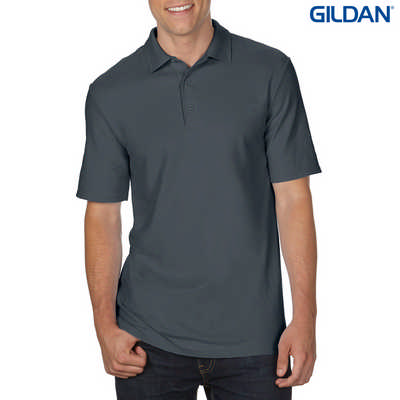 72800 DryBlend Adult Dbl Pique Polo - Charcoal