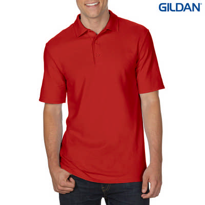 72800 DryBlend Adult Dbl Pique Polo - Red