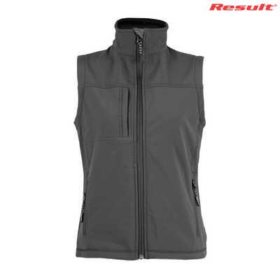 R014F Result Ladies Soft Shell Vest - Black
