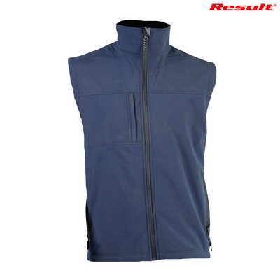 R014M Result Classic Soft Shell Vest - Navy