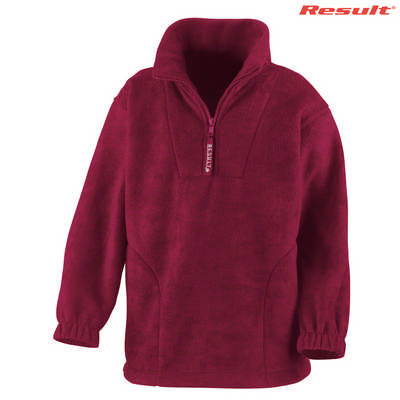 R033B Result Youth 14 Zip 330gsm Polartherm Top - Maroon
