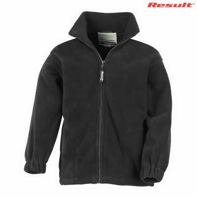 R036B Result Youth 330gsm Polartherm Jacket - Black