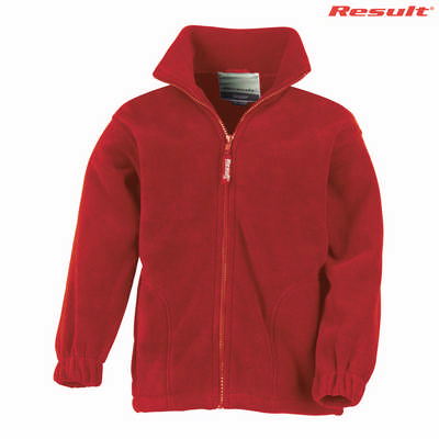 R036B Result Youth 330gsm Polartherm Jacket - Red