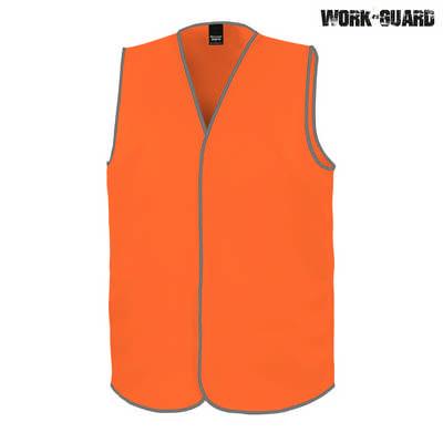 Work-Guard Safety Vest - Safety Orange (No Tape)