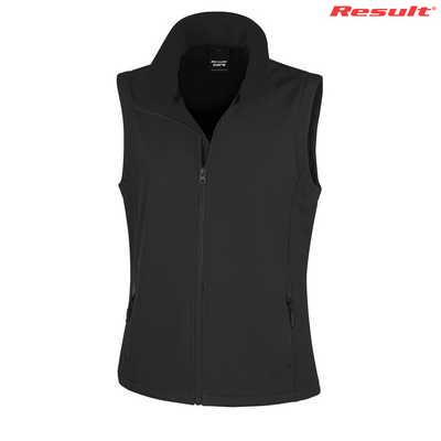 Result Core Printers Ladies Soft Shell Vest - Black