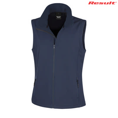 Result Core Printers Ladies Soft Shell Vest - Navy