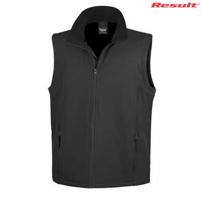 Result Core Printers Adult Soft Shell Vest - Black