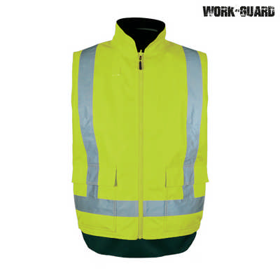 Work-Guard Rev. Fleece lined Safety Vest - Safety Yellow