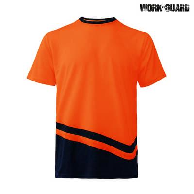 WorkGuard Peak T-Shirt - Safety OrangeNavy