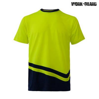 WorkGuard Peak T-Shirt - Safety YellowNavy
