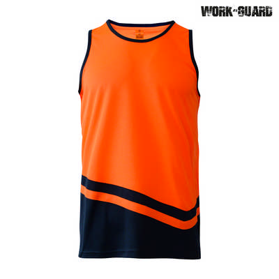 R465X WorkGuard Peak Singlet - Safety OrangeNavy