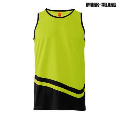 R465X WorkGuard Peak Singlet - Safety YellowBlack