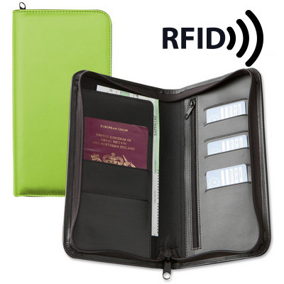 Deluxe Zipped Travel Wallet with RFID Protection