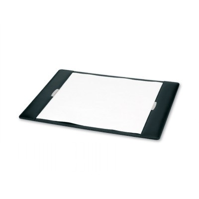 Executive Leather Desk Pad with Silver Trims