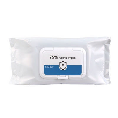 75% Alcohol Wet Wipes - 50PC Pack