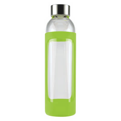 550ml Glass Drink Bottle with Stainless steel Lid