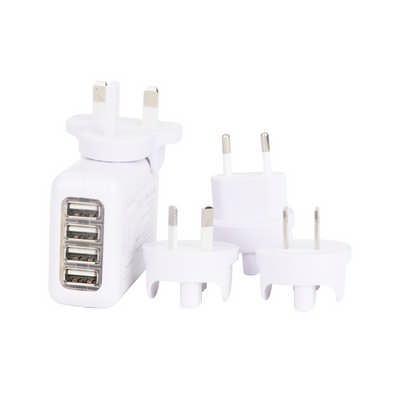 4 Ports USB Travel Adapter