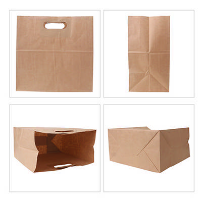 Die Cut Brown Kraft Paper Bag (280 x 280 x 150mm)