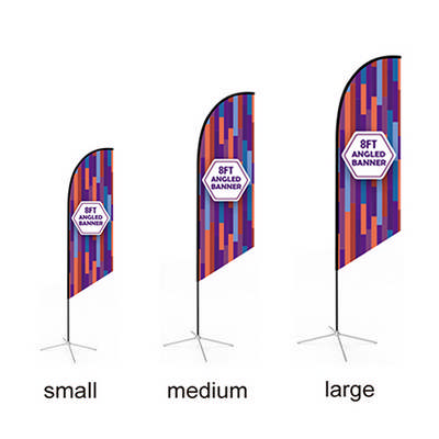 Large(80.5400cm) Angled Feather Banners 15ft