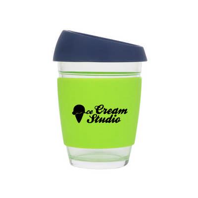 12 OZ Reusable Glass Coffee Cup