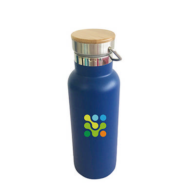 500ml Double Wall Vacuum Bottle with Bamboo Lid