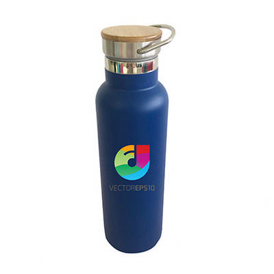 600ml Double Wall Vacuum Bottle with Bamboo Lid
