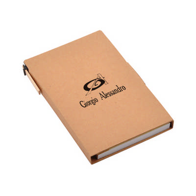 Recycled Notepad with Ball Pen - (printed with 1 colour(s))  (PXS1047_PC)