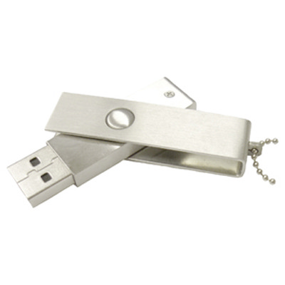 Slim Brushed Swivel Drive 2GB - (printed with 3 colour(s)) AR236-2GB_PROMOITS