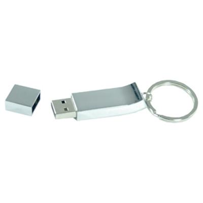 Chrome Keyring Flash Drive 16GB