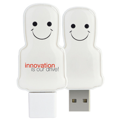 Mini USB People 16GB - White  - (printed with 3 colour(s)) USM6109A-16GB_PROMOITS