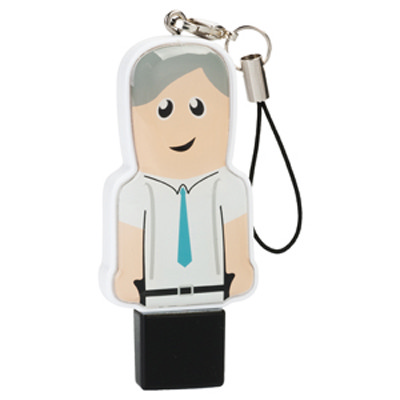 Mini USB People 16GB - Professional   - (printed with 3 colour(s)) USM6109B-16GB_PROMOITS
