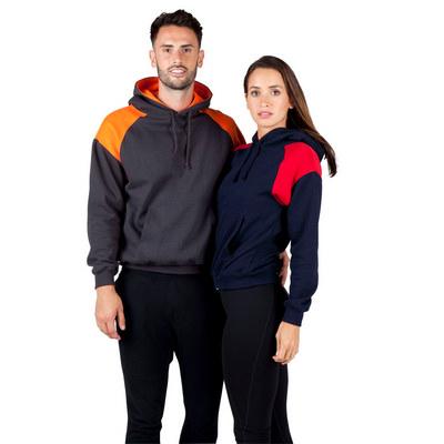 Mens Shoulder Contrast Panel Hoodie