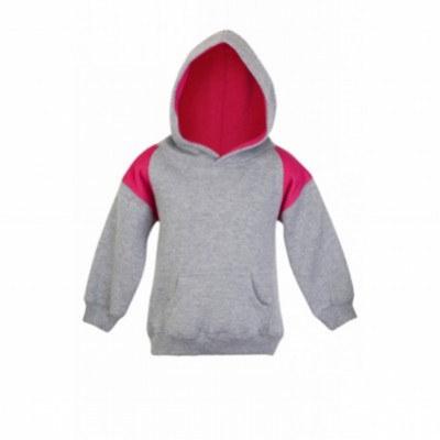 Kids Shoulders Contrast Panel Hoodies