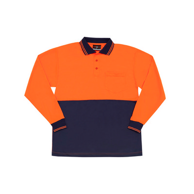 Hi Vis Long Sleeve Polo