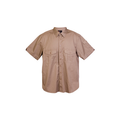 Cotton Drill Work Short Sleeve Shirt