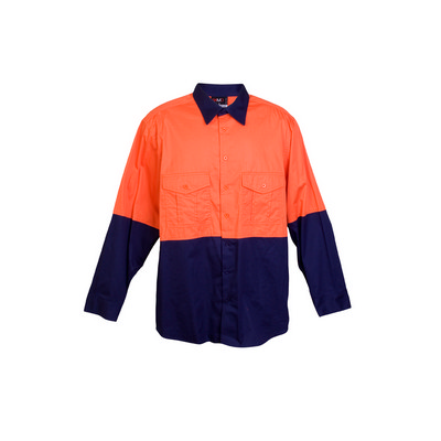100% Combed Cotton Drill Long Sleeve Shirts