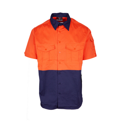100% Combed Cotton Drill Short Sleeve