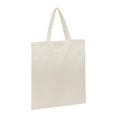 Calico Bag Natural - Short Handle