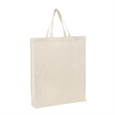Calico Bag Natural - Short Handle (with 10cm gusse