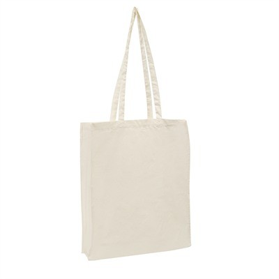 Calico Bag Natural - Long Handle (with 10cm gusset
