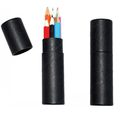 6 Pack Kids Colouring Pencils in cilindrical conta