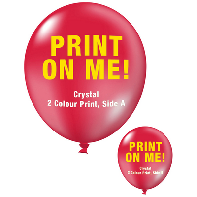 30cm Crystal Balloon - Neck Down - Chilli Red